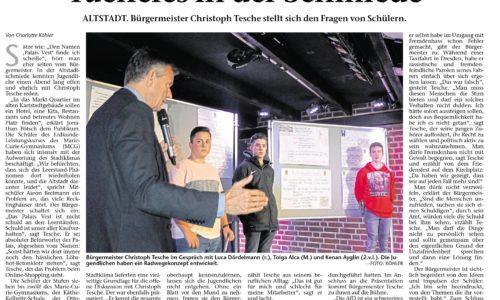 LK Erdkunde zu Gast beim Bürgermeister